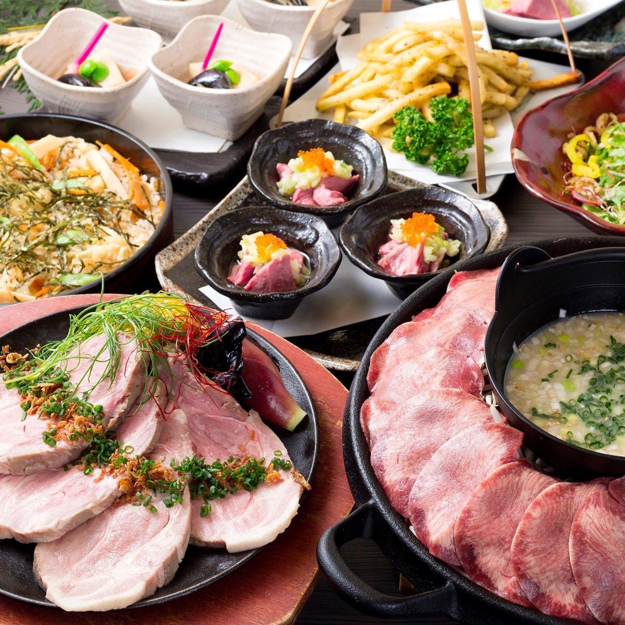 コース|【11/6~】牛たん焼きしゃぶと四元豚ステーキコースの画像